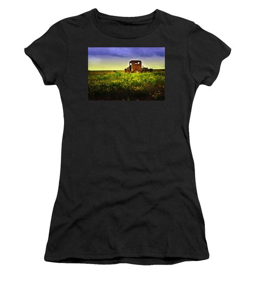 Women's T-Shirt (Junior Cut) featuring the photograph Out To Pasture by Sonya Lang