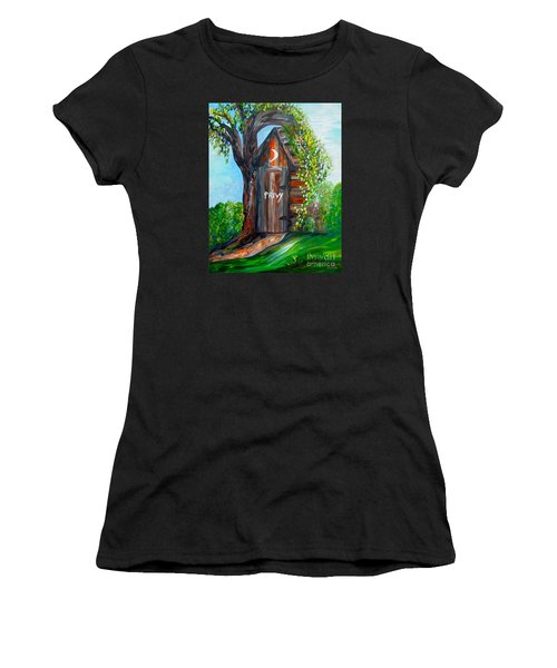 Outhouse - Privy - The Old Out House Women's T-Shirt (Athletic Fit)