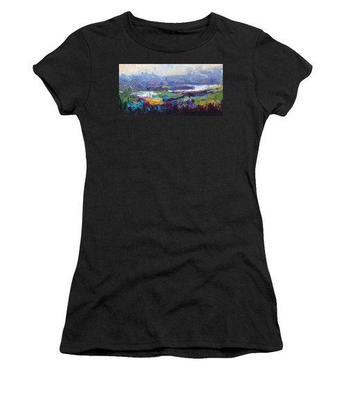 Overlook Abstract Landscape Women's T-Shirt
