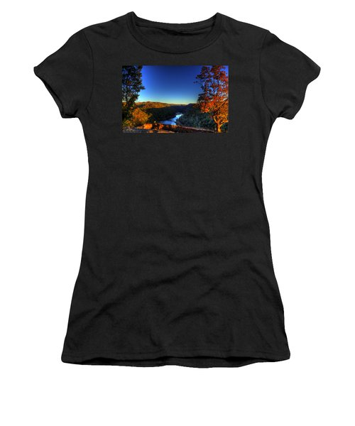 Women's T-Shirt (Junior Cut) featuring the photograph Overlook In The Fall by Jonny D