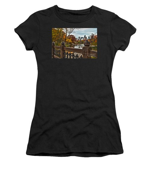 Overlooking The Lake Central Park New York City Women's T-Shirt (Athletic Fit)