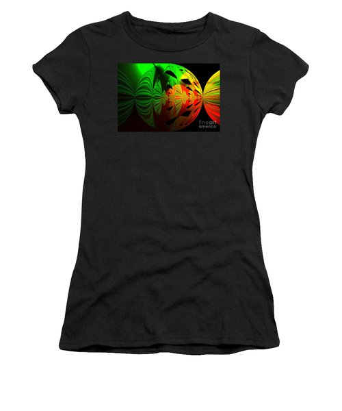 Art. Unigue Design.  Abstract Green Red And Black Women's T-Shirt