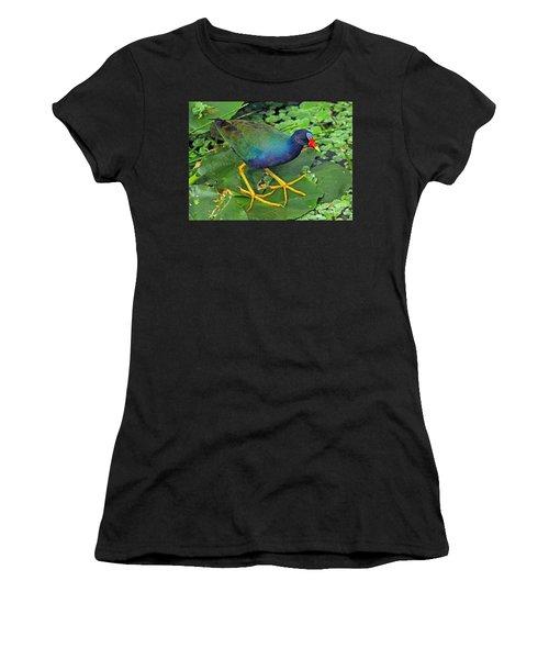Purple Gallinule Feet Women's T-Shirt (Athletic Fit)