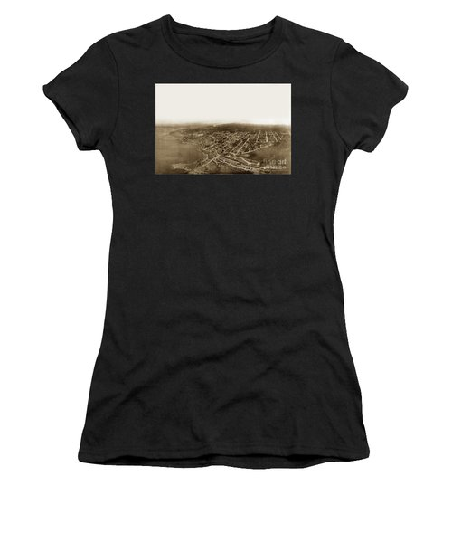 Pacific Grove 1200 From Feet Above Lovers Point And Monterey Bay 1906 Women's T-Shirt