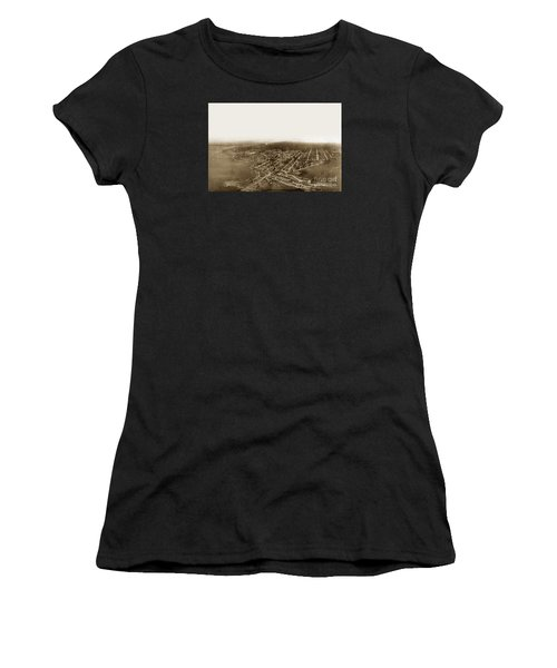 Pacific Grove 1200 From Feet Above Lovers Point And Monterey Bay 1906 Women's T-Shirt (Athletic Fit)