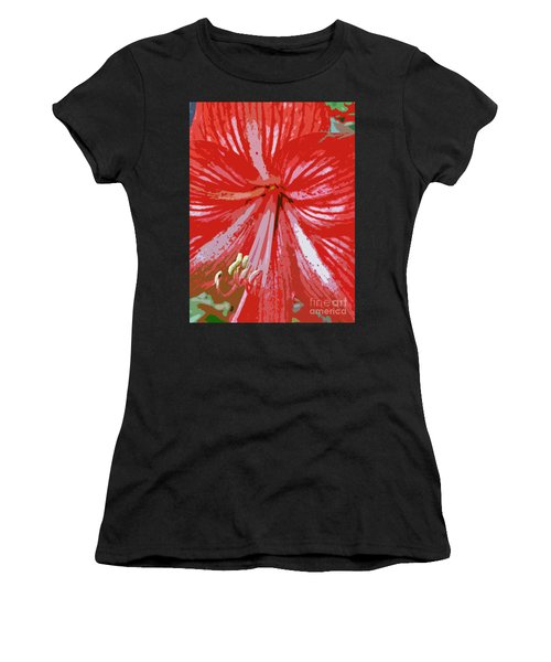 Painted Amaryllis Women's T-Shirt