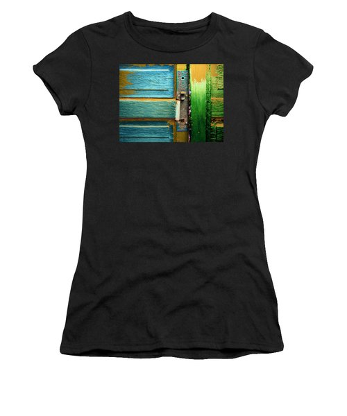 Painted Doors Women's T-Shirt (Athletic Fit)