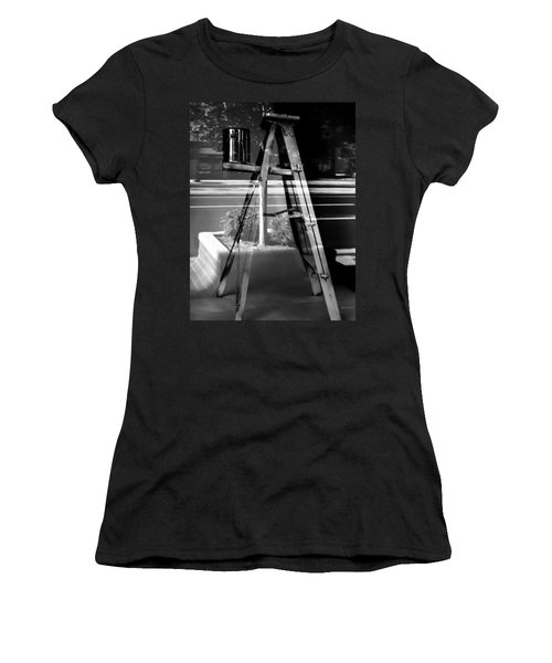 Painted Illusions - Abstract Women's T-Shirt (Junior Cut) by Steven Milner