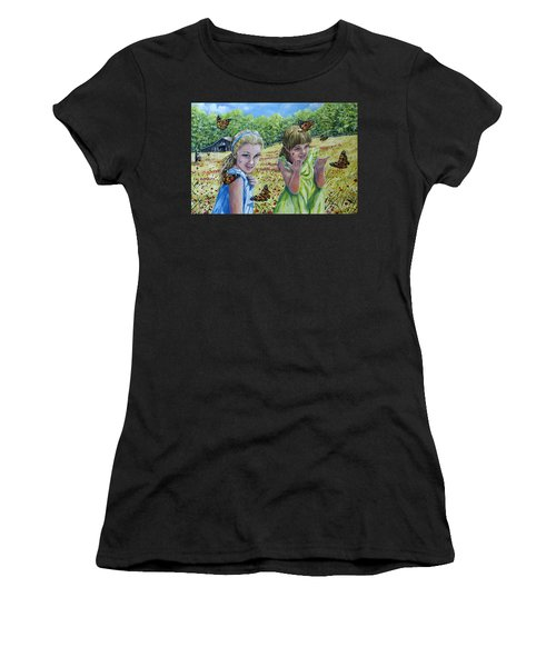 Painted Ladies Women's T-Shirt (Athletic Fit)