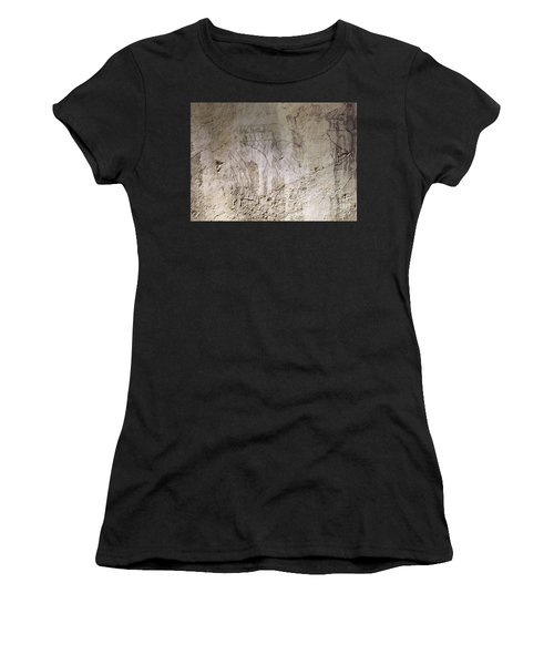 Painting West Wall Tomb Of Ramose T55 - Stock Image - Fine Art Print - Ancient Egypt Women's T-Shirt (Athletic Fit)