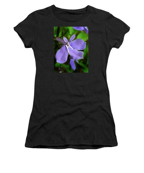 Women's T-Shirt (Junior Cut) featuring the photograph Wild Palespike Lobelia by William Tanneberger