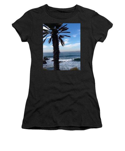 Palm Waves Women's T-Shirt (Junior Cut) by Susan Garren