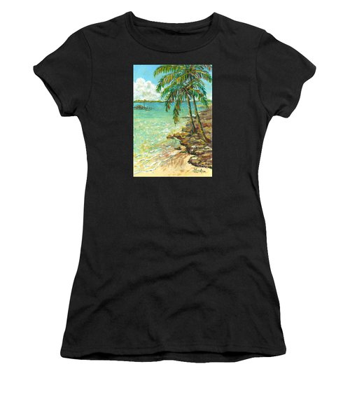 Palms On Point Of Rocks Women's T-Shirt (Athletic Fit)