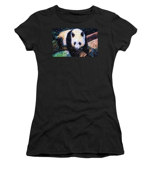 Panda In The Rest Women's T-Shirt (Junior Cut) by Lanjee Chee