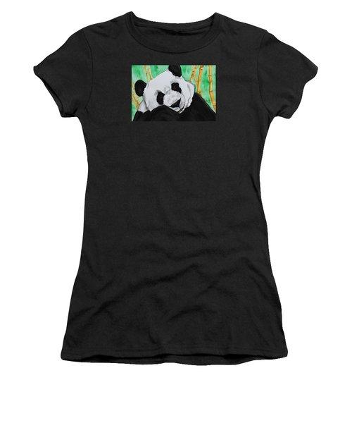 Panda Women's T-Shirt (Athletic Fit)