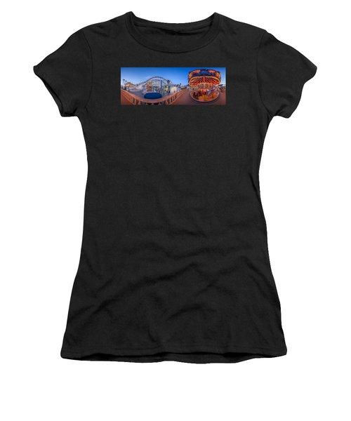 Panorama Giant Dipper Goes 360 Round And Round Women's T-Shirt