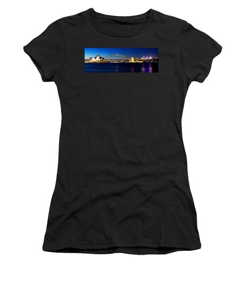Panoramic Photo Of Sydney Night Scenery Women's T-Shirt