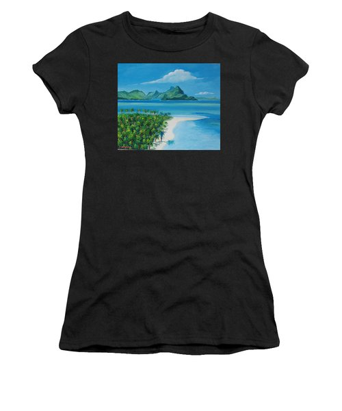 Papeete Bay In Tahiti Women's T-Shirt (Athletic Fit)