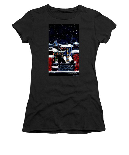 Paris Cats Women's T-Shirt (Athletic Fit)