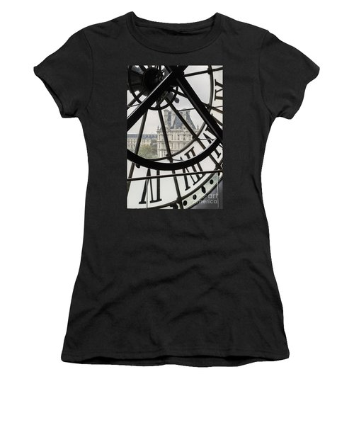 Paris Clock Women's T-Shirt (Athletic Fit)
