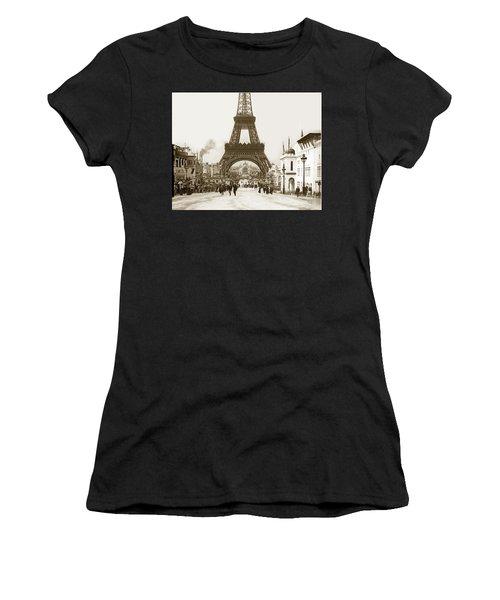 Paris Exposition Eiffel Tower Paris France 1900  Historical Photos Women's T-Shirt