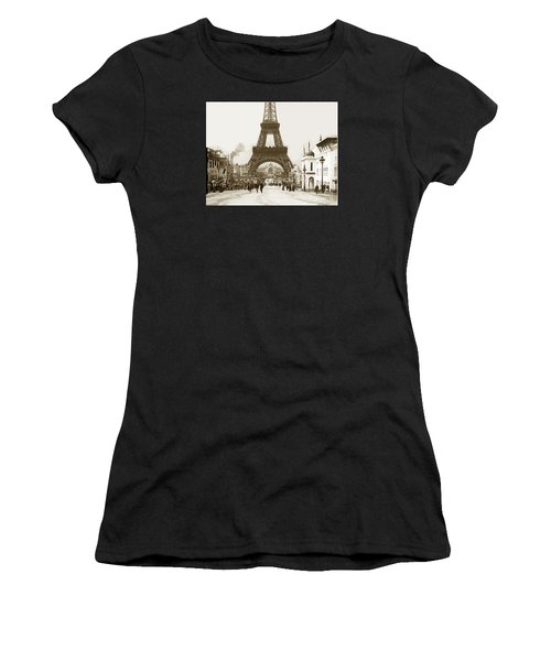 Paris Exposition Eiffel Tower Paris France 1900  Historical Photos Women's T-Shirt