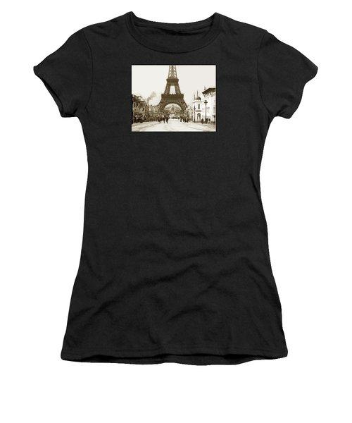 Paris Exposition Eiffel Tower Paris France 1900  Historical Photos Women's T-Shirt (Athletic Fit)