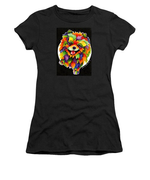 Party Pom Women's T-Shirt (Junior Cut) by Sherry Shipley