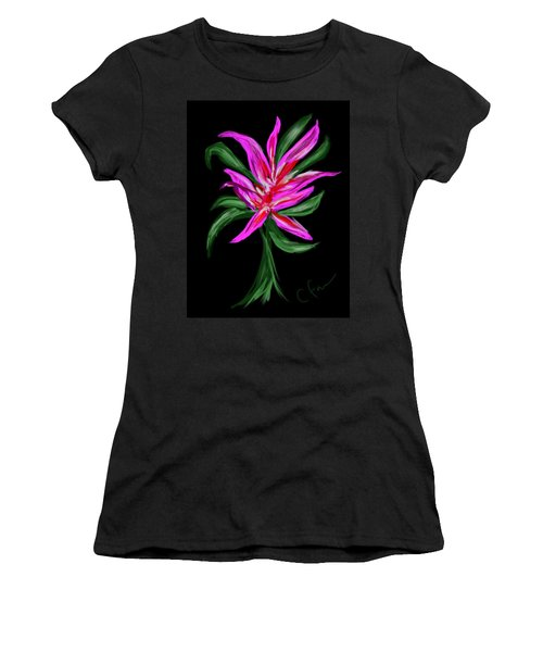 Women's T-Shirt (Junior Cut) featuring the digital art Passion Flower by Christine Fournier