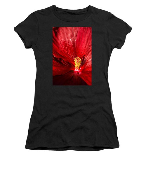 Passionate Ruby Red Silk Women's T-Shirt (Athletic Fit)