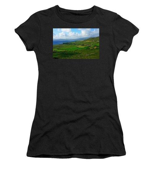 Patchwork Landscape Women's T-Shirt (Junior Cut) by Aidan Moran
