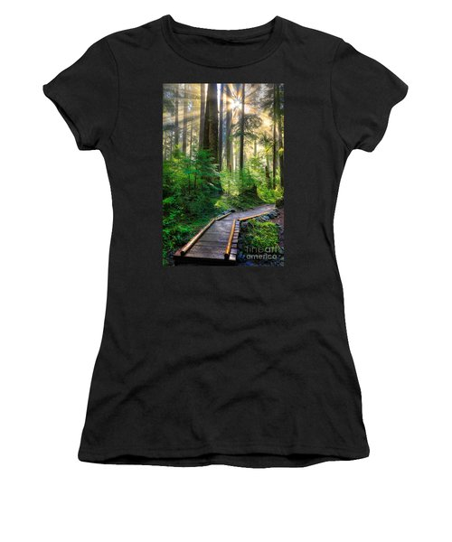 Pathway Into The Light Women's T-Shirt (Athletic Fit)