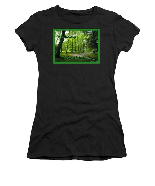 Pathway Saint Patrick's Day Greeting Women's T-Shirt (Athletic Fit)