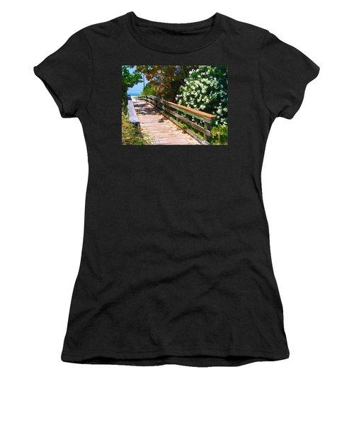 Pathway To Beach Women's T-Shirt