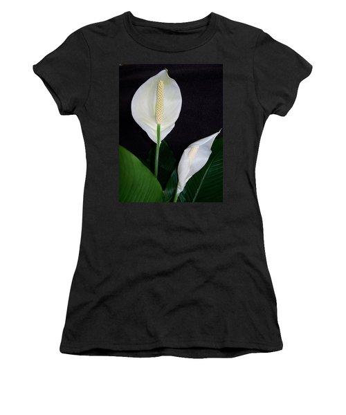 Peace Lilies Women's T-Shirt (Junior Cut)
