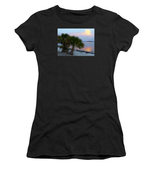 Peaceful Beach Sunrise Women's T-Shirt (Athletic Fit)