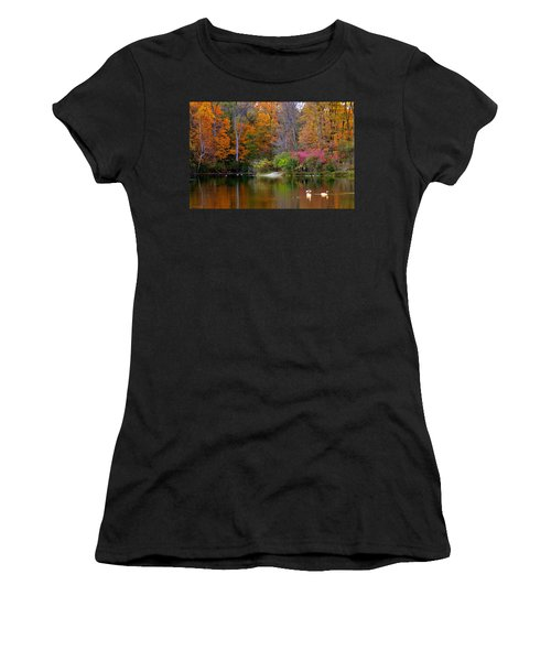 Peaceful Lake Women's T-Shirt (Athletic Fit)