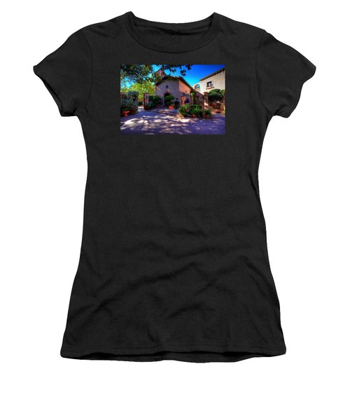 Women's T-Shirt (Junior Cut) featuring the photograph Peaceful Plaza by Dave Files