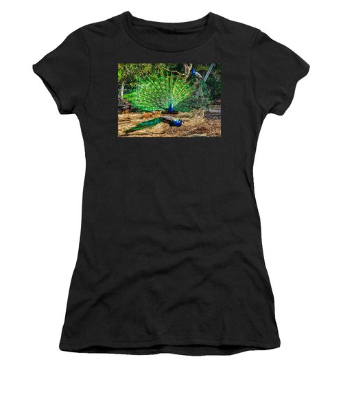 Peacocking Women's T-Shirt (Athletic Fit)