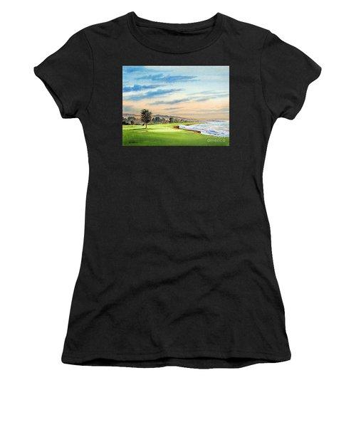 Pebble Beach Golf Course 18th Hole Women's T-Shirt