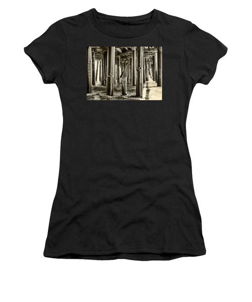 Peeking Under The Pier By Diana Sainz Women's T-Shirt