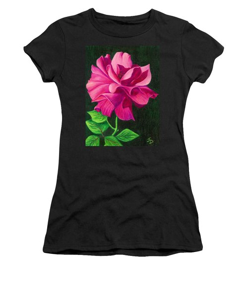 Pencil Rose Women's T-Shirt (Athletic Fit)