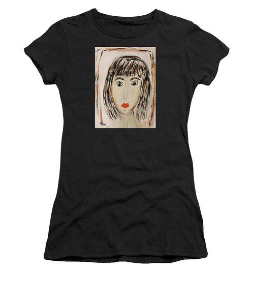 Pensive M.  Women's T-Shirt (Athletic Fit)