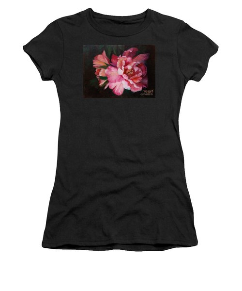 Peonies No 8 The Painting Women's T-Shirt (Athletic Fit)