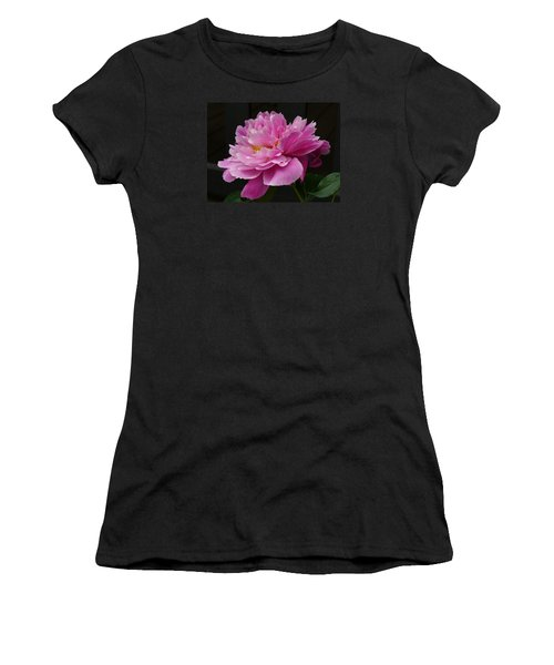 Women's T-Shirt (Junior Cut) featuring the photograph Peony Blossoms by Lingfai Leung