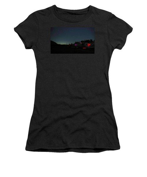 Perseid Meteor-julian Night Lights Women's T-Shirt