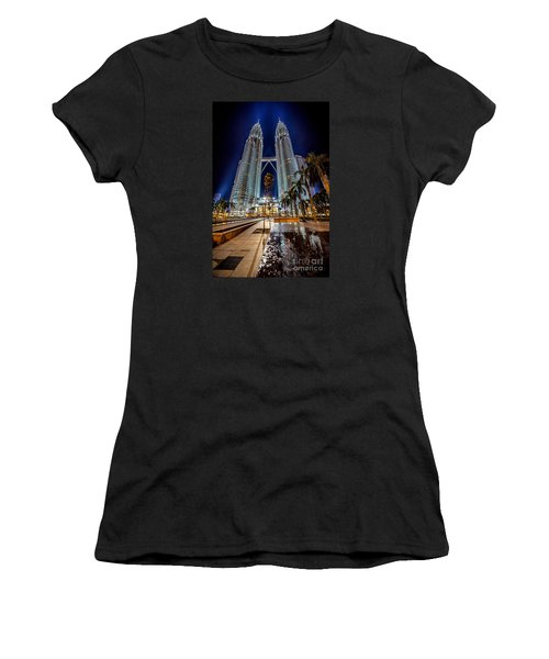 Petronas Twin Towers Women's T-Shirt (Junior Cut) by Adrian Evans