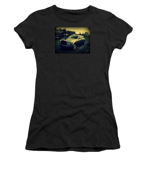 Women's T-Shirt (Junior Cut) featuring the photograph Rolls Royce Phantom by Salman Ravish