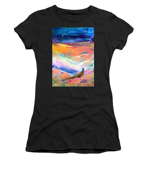 Pheasant Moon Women's T-Shirt (Athletic Fit)