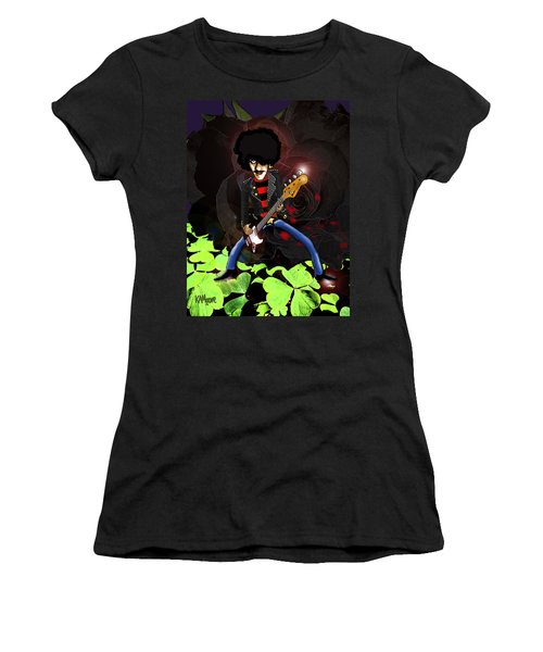Phil Lynott Of Thin Lizzy Women's T-Shirt (Athletic Fit)
